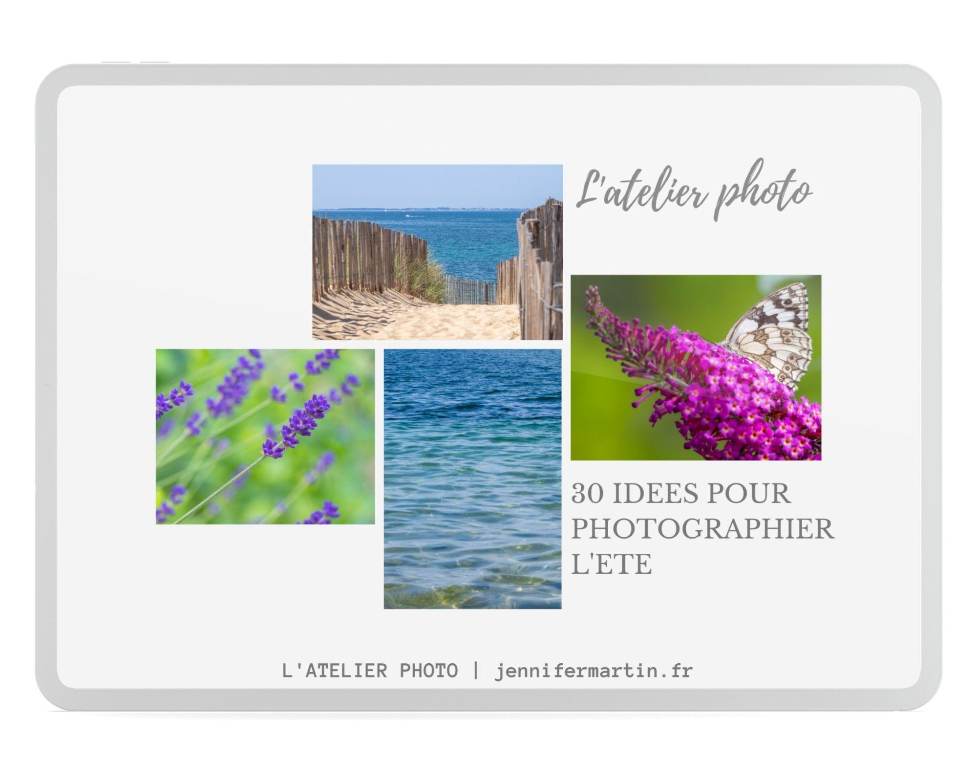 guide PDF gratuit : 30 idées pour photographier l'été
